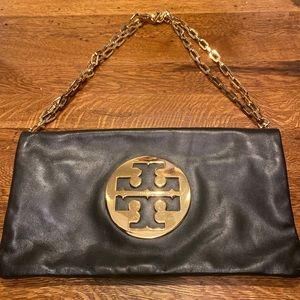 Tory Burch Leather Bag with Chain Strap